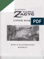 Castles & Crusades - CZ2 - Castle Zagyg - The Upper Works - Book #6 - Maps & Illustrations Booklet