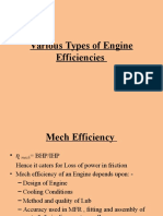 Various Types of Engine Efficiencies