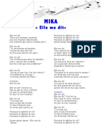 Mika- Elle Me Dit - Paroles