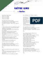 PAROLES-MAÎTRE GIMS-BELLA