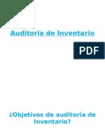 Auditoria de Inventario