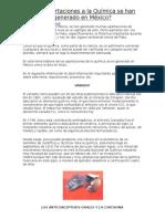 Aportaciones de Mexico a La Quimica