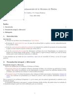 Ecuaciones Fundamentales de La Mecánica de Fluidos