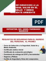 INDUCCION A LA SEGURIDAD, SALUD Y MEDIO AMBIENTE PROMEX.ppt