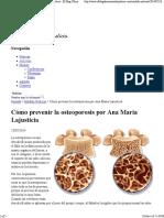 Cómo Prevenir La Osteoporosis Por Ana Maria Lajusticia - El Blog Oficial de Ana María Lajusticia