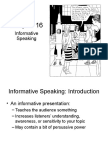 Chapter 16 Informative Speaking