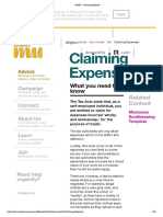 TheMU - Claiming Expenses
