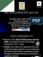 Metrochem API Pvt Ltd Bulkdrugs Manufacturer/Exporter