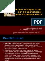 Pemeriksaan Golongan darah dan Uji Silang Serasi.pptx