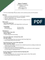 aissa carnet resume