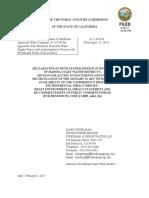 Declaration of Ruth Stoner Muzzin 2-08-17