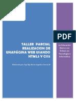Taller Practico Creacion de Sitios Web Usando Html5 y Css