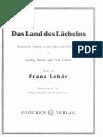 Lehar F. - Das Land Des Lachelns - 1929