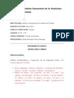Programa 3º Griego