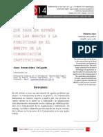 Icono14. A8/V2. Qué pasa en España con las marcas y la publicidad en  el ámbito de la comunicación institucional