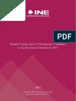 Estudio Censal sobre la Participación electoral en las Elecciones Federales de 2015