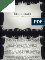 DESIDERATA