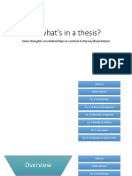 so whats in a thesis