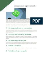 10 Recomendaciones Para El Uso Seguro y Adecuado Del WhatsApp
