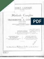 1º Volume - Méthode Complète de Trombonea Coulisse - André Lafosse