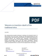 Telecoms re-invention–death of the traditional telco