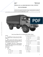 G650 Unimog UL1750 RAAF Data Summary 0