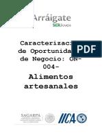 Caracterizacion de Oportunidades de Negocio-On-004 Alimentos Artesanales