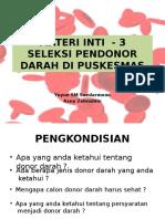Materi Inti - 3 Seleksi Donor Final11052016 Tambahan