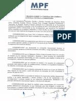 Declaración conjunta de cooperación para el caso L de Brasil, Perú, Panamá,  Argentina, Colombia, México, Ecuador, Chile, Portugal y República Dominicana