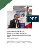 Promueven el voto de los mexiquenses en el extranjero