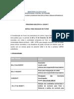 Edital 05 2017 Tutor Letras Espanhol
