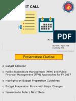 2017 Budget Call