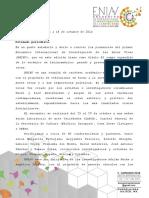 Boletin de Prensa Eniav