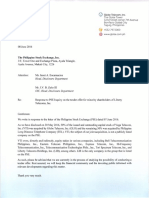 08 June 2016 - PublicResponse to PSE Re Tender Offer