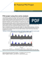 PhD Project Time Series
