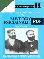 Libro JOSE PERREZ- Proceso Constitución Método Psicoanalítico