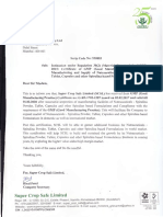 Certificate of GMP (Good Manufacturing Practice) for Manufacturing and Supply of Nutraceuticals - Spirulina Powder, Teblet, Capsules and other Spirulina based Formulations [Company Update]