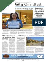 The Daily Tar Heel for Feb. 17, 2017
