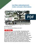 Bambalapitiya flats redevelopment project.docx