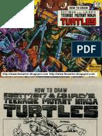 How to Draw Eastman and Laird Teenage Mutant ninja turtles