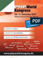 PHP World Kongress // 09.-11. November 2010 in Munich