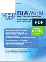 RIA World 2010 - Rich Internet Applications in Action