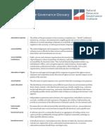 Natural Resource Governance Glossary