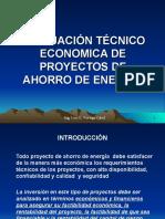 Evaluación Economica Proyectos Ahorro Energía