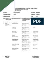 Transformer Testing Report