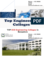 Top ECE Engineering Colleges in Bangalore