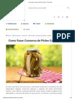 Como Fazer Conserva de Picles Caseira - Como Fazer