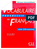 Vocabulaire Progressif Du Francais Intermediaire