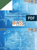HospitalSoftwareShop - TeleMedicine, TelePathology, TeleRadiology, TeleOphthalmology Solutions
