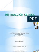 Instruccion Clinica y Charlas Educativas
